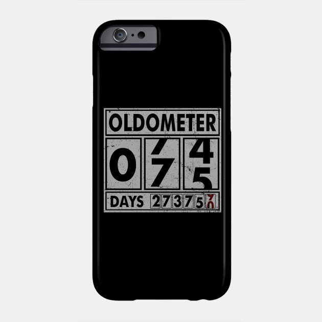 OLDOMETER 75 Years Old Made In 1943 75th Birthday Phone Case