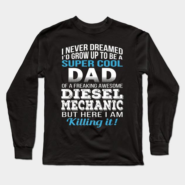 Big Grey Mechanic All My Life Tee Shirt Long Sleeve Shirt