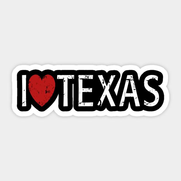 I Love Texas Sticker NEW