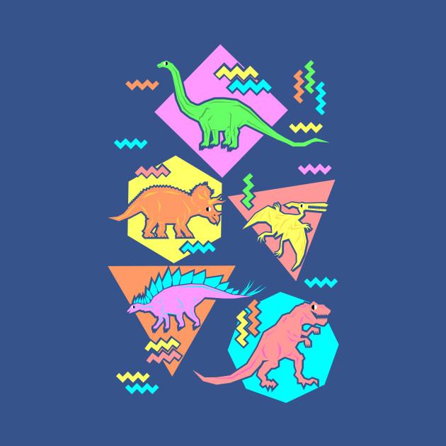 Nineties Dinosaur Pattern