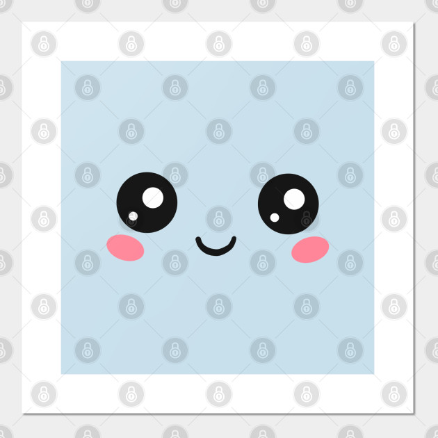 Cute Kawaii Face Eyes Funny Emoticon Emoji Anime Kawaii Poster