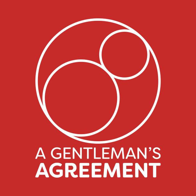 A Gentleman's Agreement Logo — Vertical — White