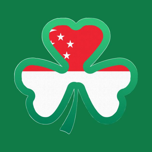 Singapore Flag for st patricks day, Irish Shamrock