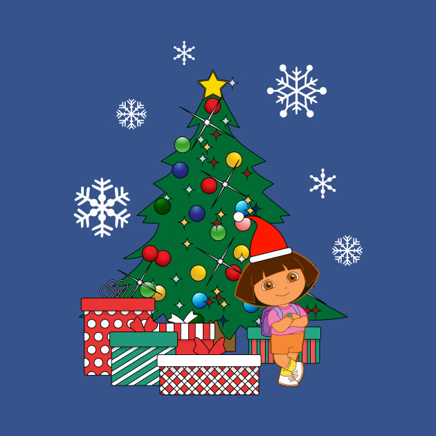 Dora The Explorer Around The Christmas Tree Dora The Explorer T