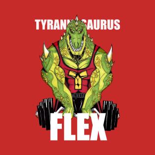 Tyrannosaurus Flex t-shirts