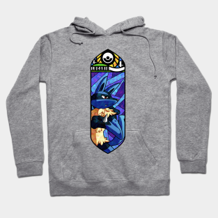 Pokemon Lucario Aura Sphere Attack Anime Hooded Sweater Jacket Pullover Hoodie