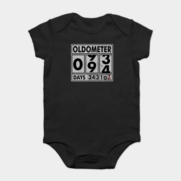 OLDOMETER 94 Years Old Made In 1924 94th Birthday Onesie