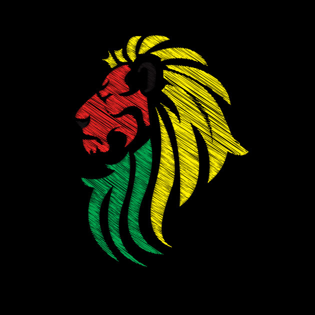 Lion Reggae Colors Cool Flag - Reggae Music DJ!