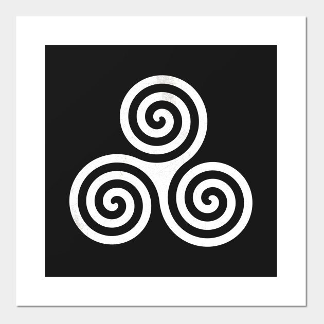 Celtic Triple Spiral Triskele Posters And Art Prints Teepublic