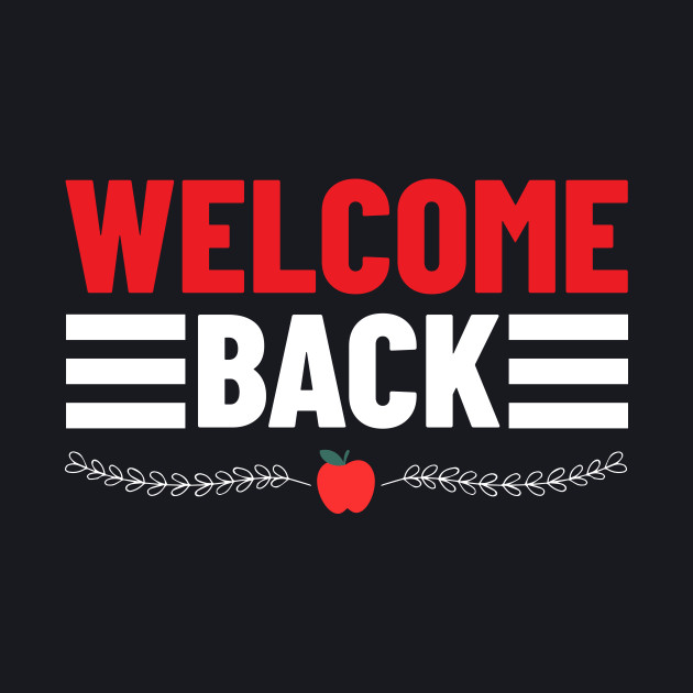 Welcome Back Typographic Design