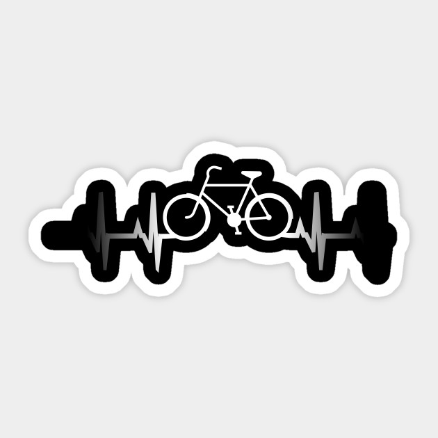 Bicycle T Shirt Heartbeat Cycling Rider Bike Lovers