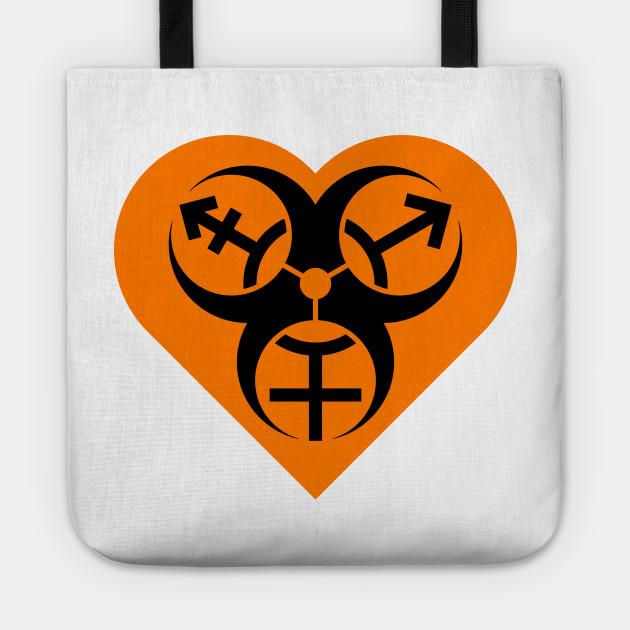 Orange Safety Trans Safety Orange Heart Biohazard Biohazard Trans 2WI9EDH