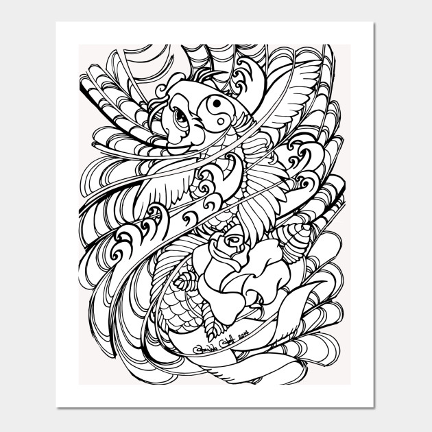 COLOR YOUR OWN TEE Busy Koi