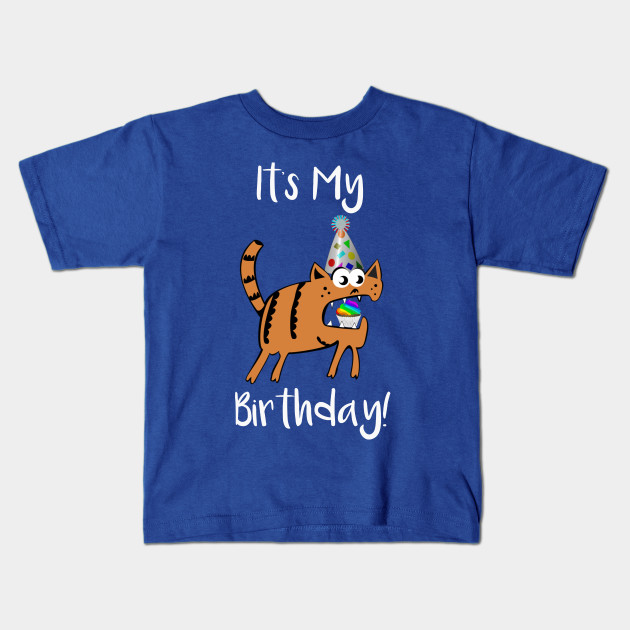 Its My Birthday Cat Party Kids T Shirt