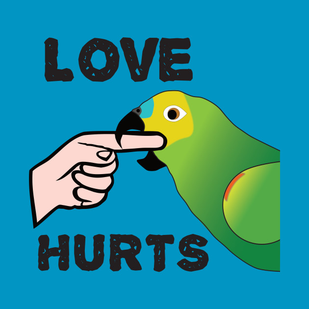 Love Hurts - Blue Front Amazon Parrot
