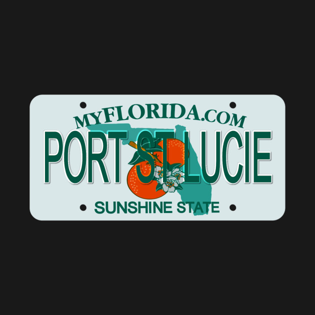 Port St Lucie Florida License Plate Port St Lucie Florida License