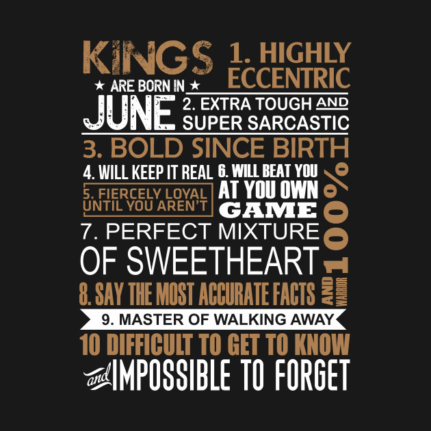 King Are Born In June Shirt Gemini Cancer Birthday Gifts Men