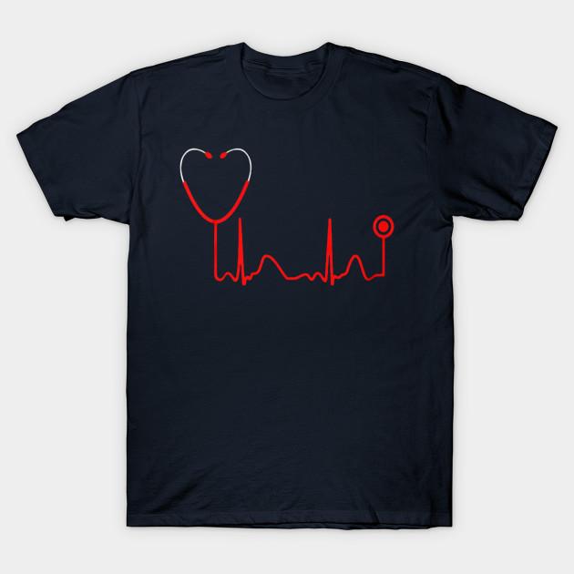 31f0c824212 Nursing Shirt Nurse T Shirt Nursing Student Nurse Gift Ideas RN TShirt  Nurse Graduation Gift Stethoscope Heartbeat Mens Ladies Tee T-Shirt