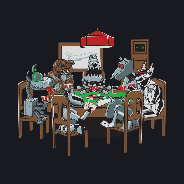 Robot Dogs Playing Poker