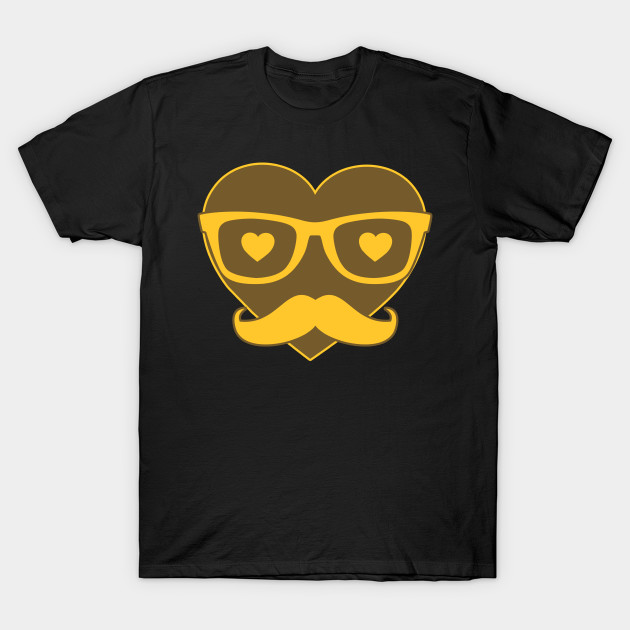 Hipster Heart Love Love Valentine's Day T-Shirt