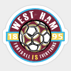 West Ham United Stickers   TeePublic
