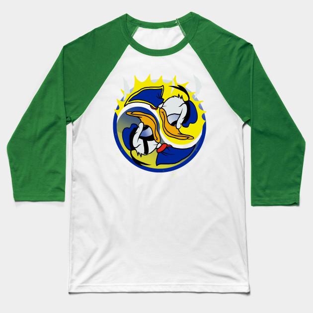Yin Yang Duck Baseball T-Shirt