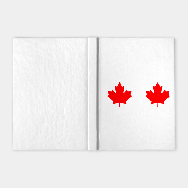 Maple Leaf Boobs Canadian Flag Cool Gift For Women and Girls T-Shirt