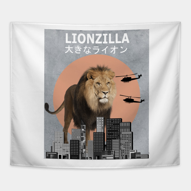 4301beec832 Lionzilla Lion Funny Animal T-Shirt Lover Gift - Lion - Tapestry ...