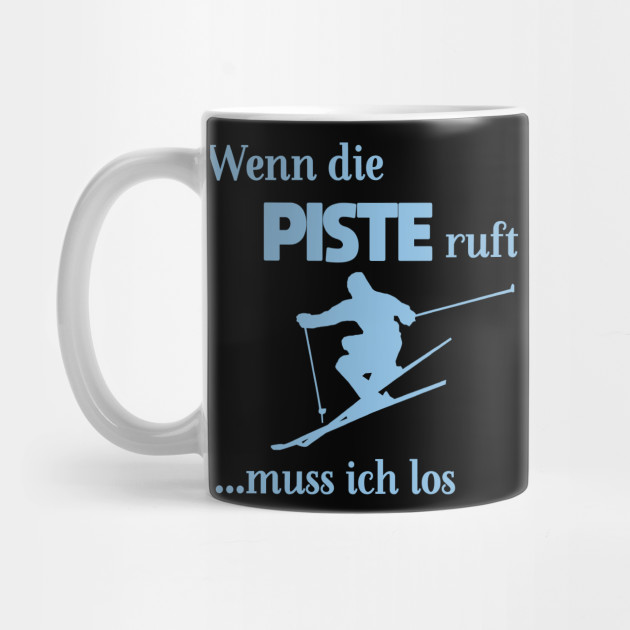 Ski skier snow sport winter ski run Mug