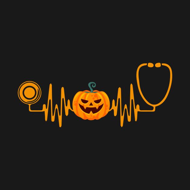 8b600ce1 Funny Halloween Nurse Doctor Stethoscope Pumpkin TShirt Funny Halloween  Nurse Doctor Stethoscope Pumpkin TShirt
