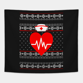 NURSE UGLY SWEATER Merry Christmas T Shirt | Nursing Holiday ...