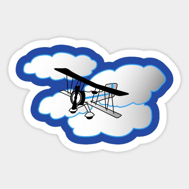 Cute Airplane Plane Sticker Teepublic Uk