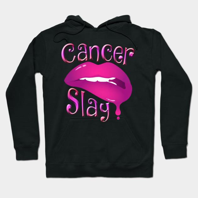 Zodiac Cancer Slay Pink Lips Hoodie