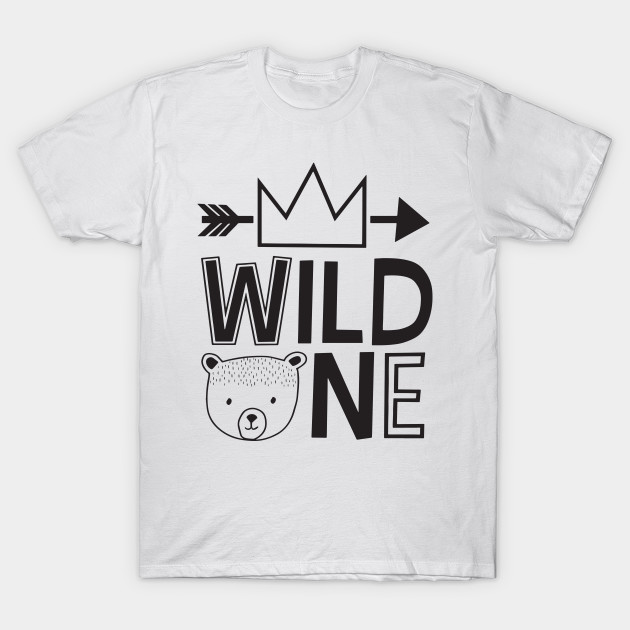 Wild One Raglan Birthday Shirt Boy Where The Things Are First 1st