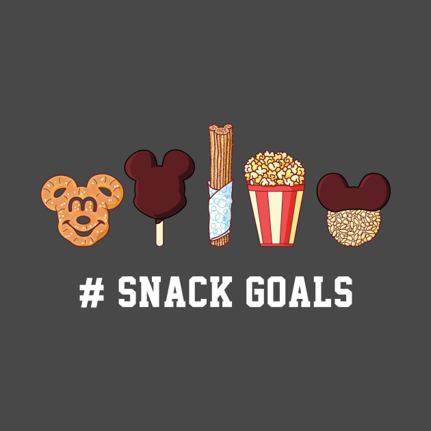 8a1c49adc Snack Goals - Dark - Disney - T-Shirt | TeePublic