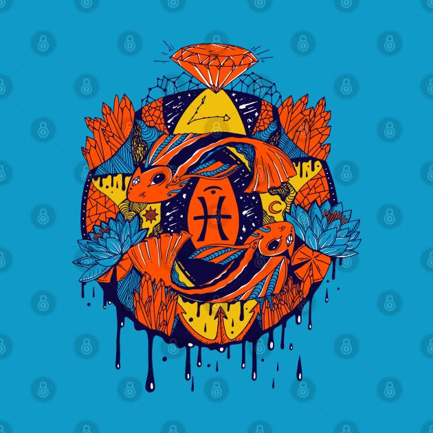 Orange Blue Mystic Pisces Motion