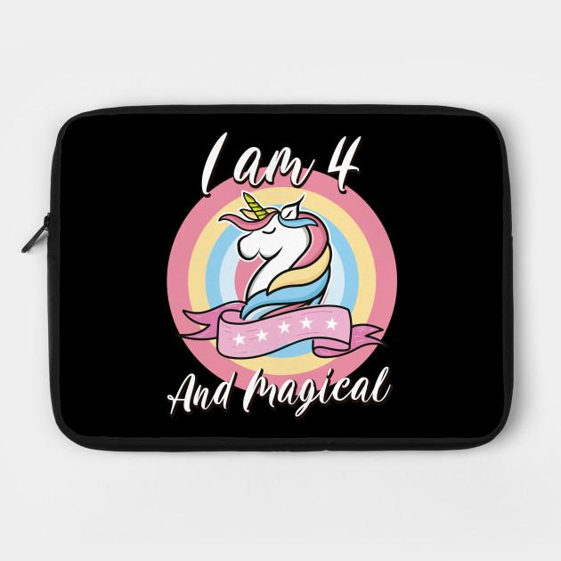 Personalised I am 4 Unicorn Birthday Hoodie Fourth Birthday Top Custom Magical