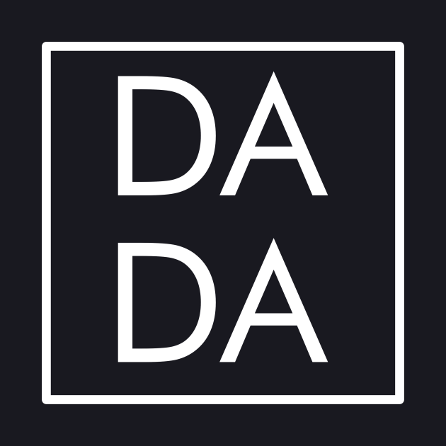 Dada Modern Boxed Square Dad, Matching Mama Family Gift