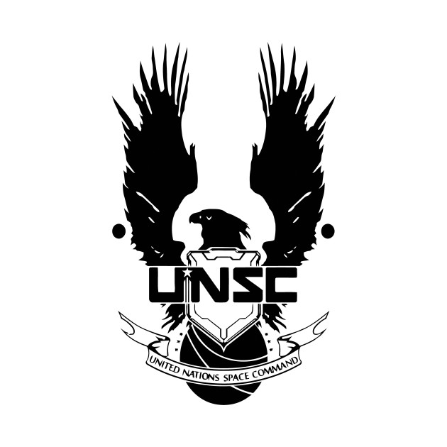 UNSC LOGO HALO 4 - CLEAN LOGO IN BLACK - Unsc Logo Halo 4 - T-Shirt ...
