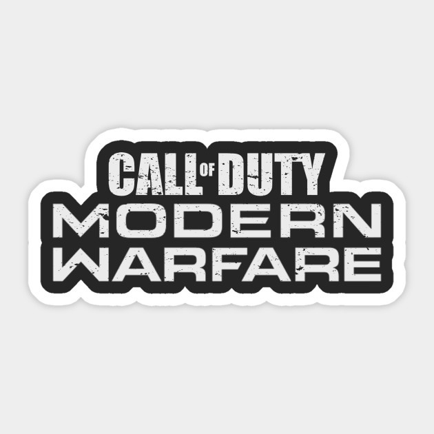 Call Of Duty Modern Warfare Cod Mw Sticker Teepublic