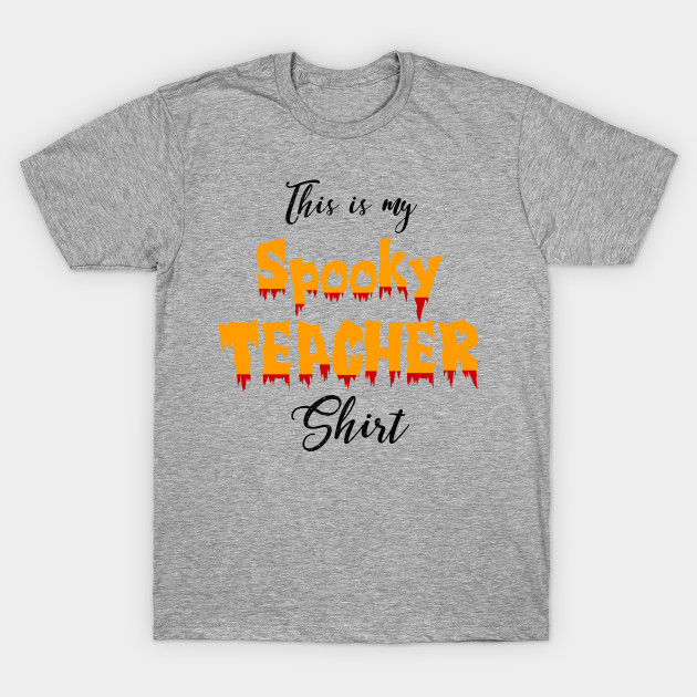 67f3ec69 Spooky Teacher Halloween Graphic Tee Shirt - Halloween - T-Shirt ...