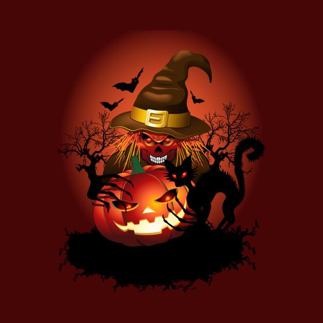 Skull Witch Creepy Halloween - Dead - Pillow   TeePublic