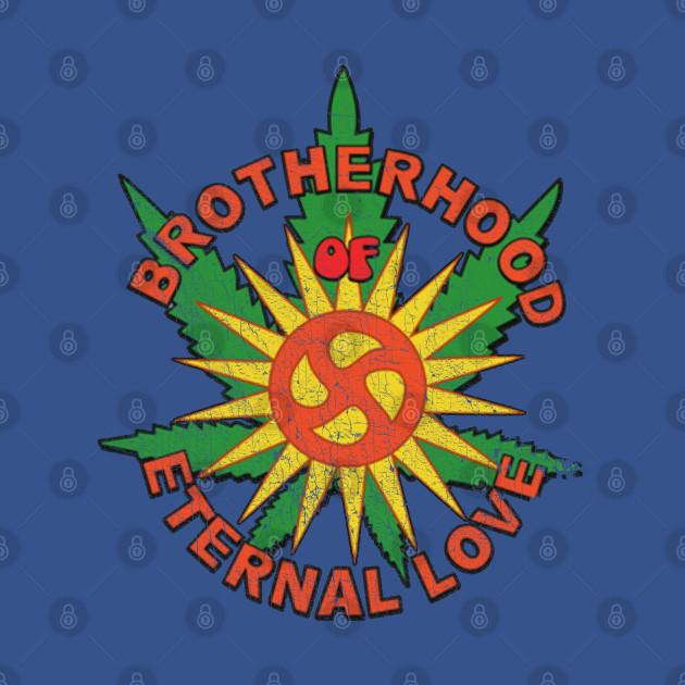 Brotherhood Of Eternal Love Hippie Mafia Logo (Distressed)