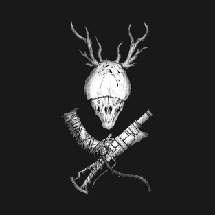 Bloodborne Cross-Weapons(white) t-shirts