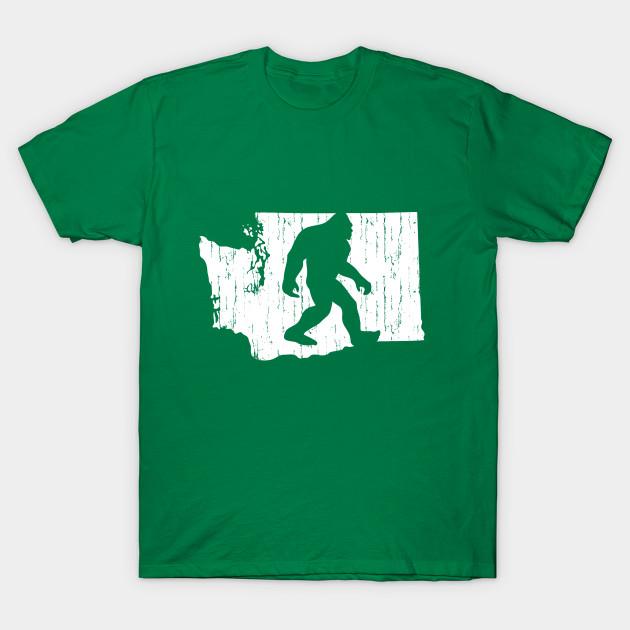 d92d5ab3 Bigfoot Country - Washington State - Bigfoot - T-Shirt | TeePublic