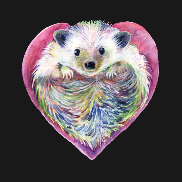HedgeHog Heart by Michelle Scott of dotsofpaint studios