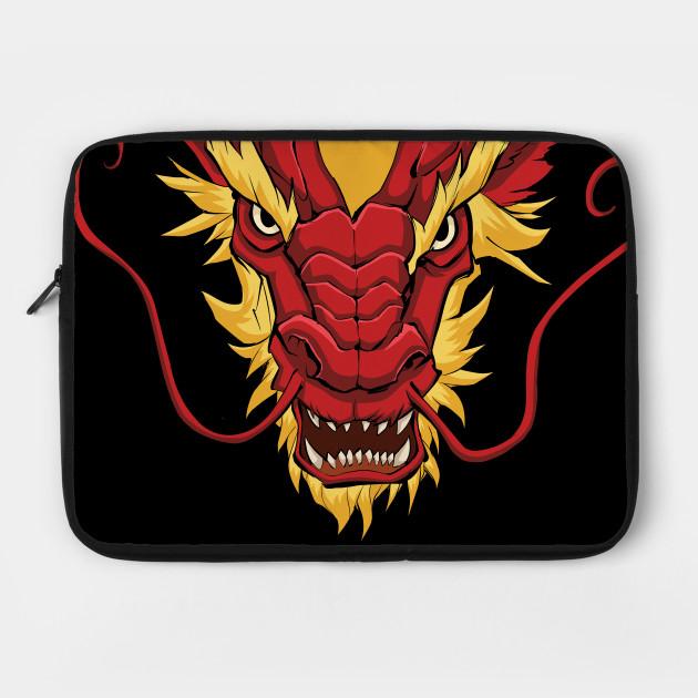 e77e8637c Chinese Dragon Head Red - Dragon - Laptop Case | TeePublic