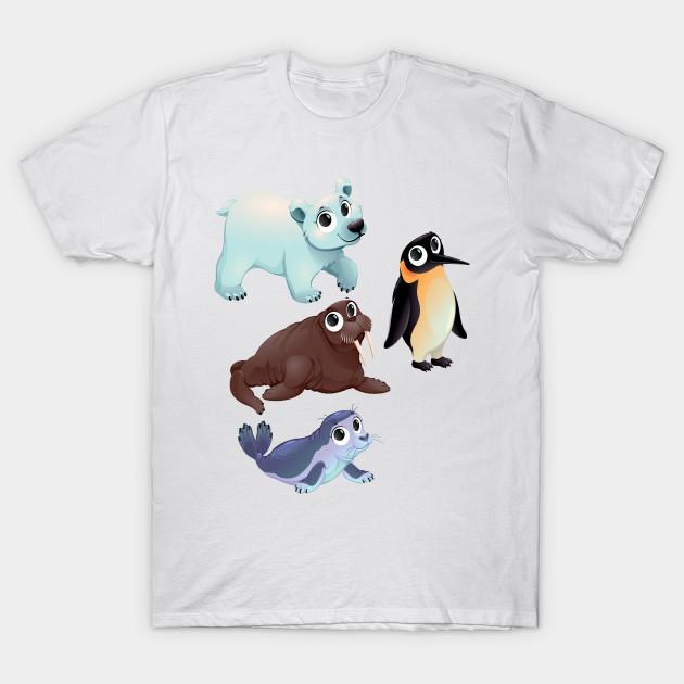 cute arctic animals cute animals t shirt teepublic