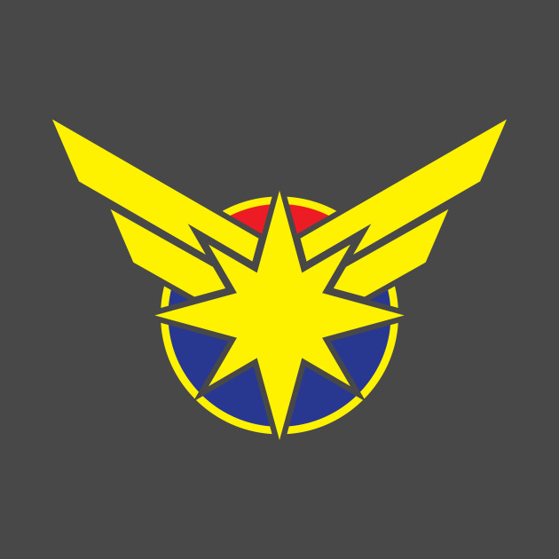 captain marvel logo marvel tshirt teepublic
