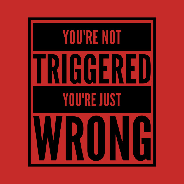 You're Not Triggered, You're Just Wrong